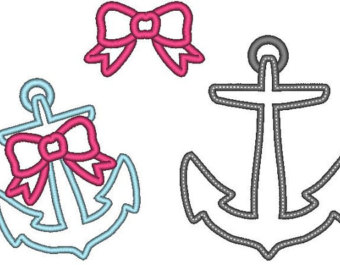 Anchor clipart girly. Etsy set f cute