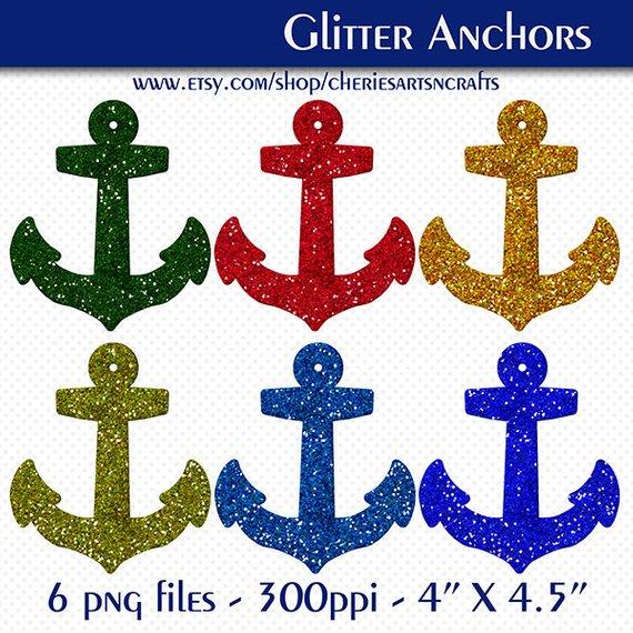 Anchors clip art glittery. Anchor clipart glitter