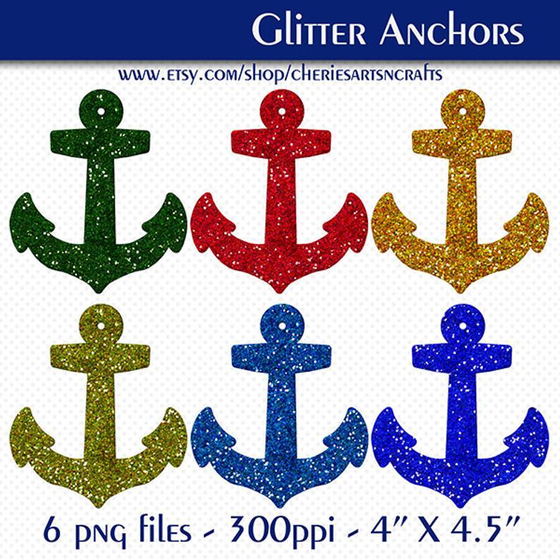 Anchor clipart glitter. Anchors clip art glittery