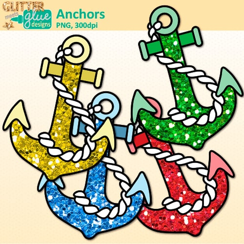 Anchor clipart glitter. Nautical teacher clip art