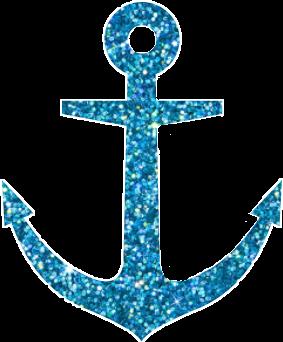 Blue sparkly oceanvibes . Anchor clipart glitter