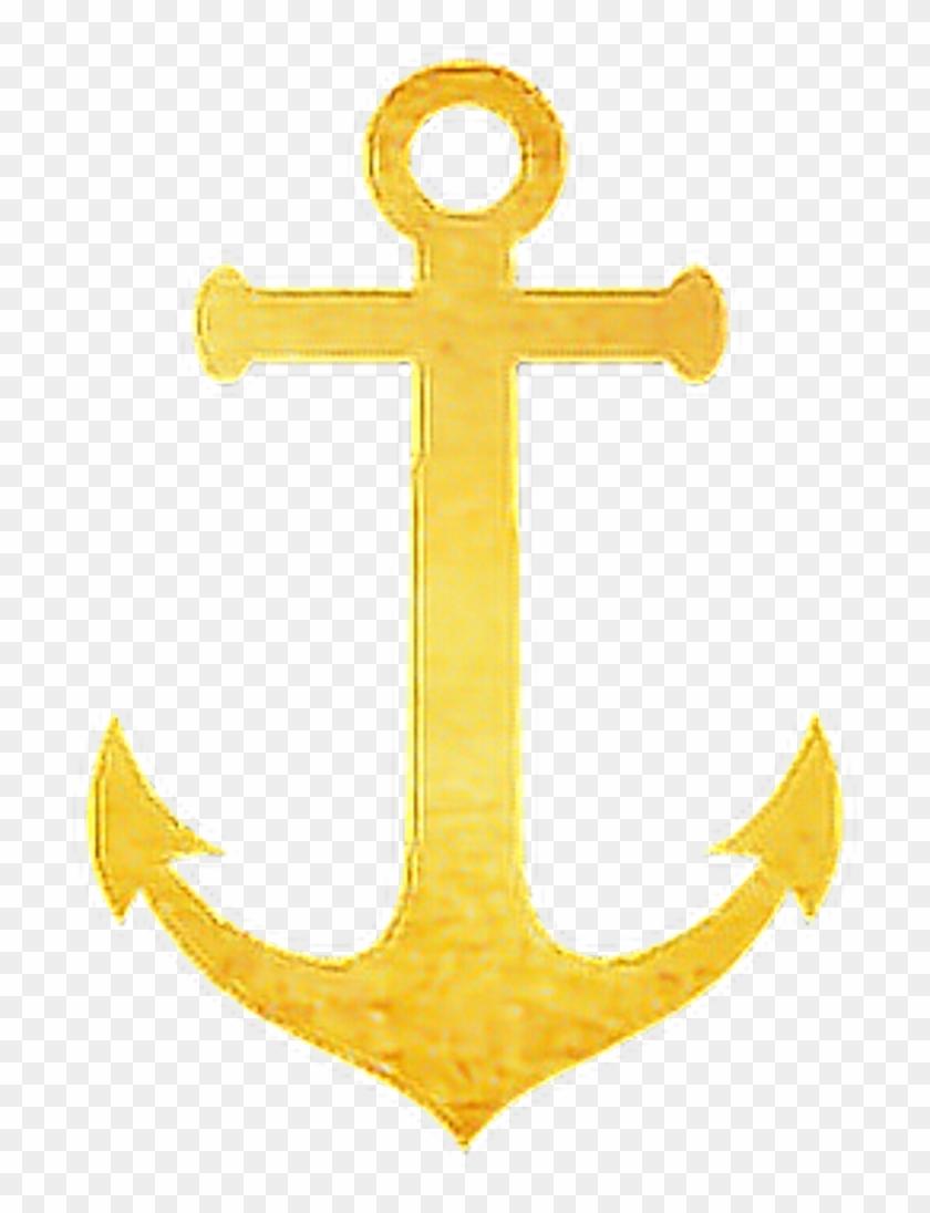 Gold . Anchor clipart glitter