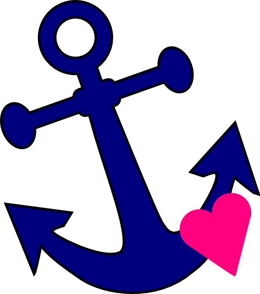 Anchor With Heart Clip Art at Clker