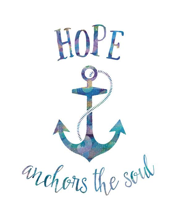 Anchor clipart hope. Anchors the soul printable