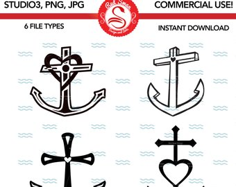 Anchor clipart hope. Anchors svg etsy studio