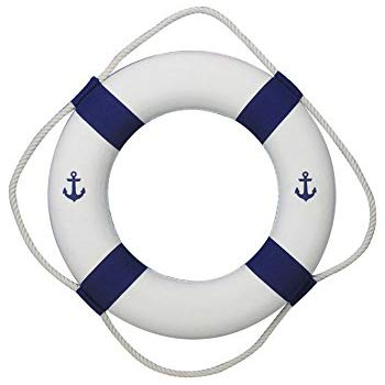 Amazon com homecube blue. Anchor clipart life preserver