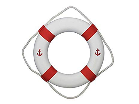 Anchor clipart life preserver. Amazon com classic white