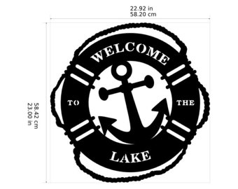 Sign etsy welcome to. Anchor clipart life preserver