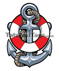 Pencil and in color. Anchor clipart life preserver