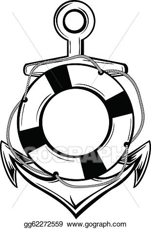 Eps vector and ring. Anchor clipart life preserver