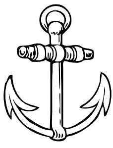 Clip at clker com. Anchor clipart line art