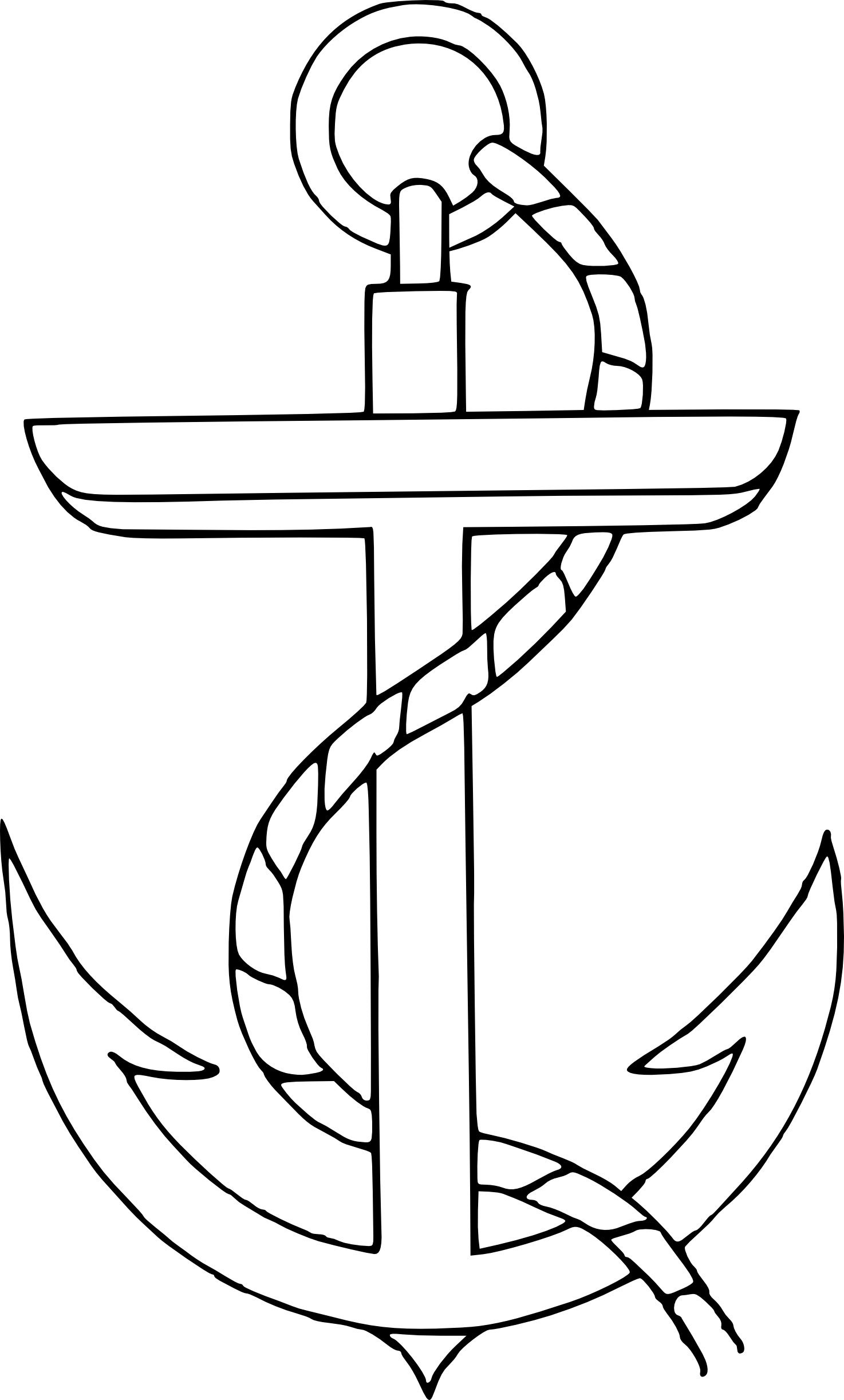 With heart clip free. Anchor clipart line art