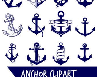 Clip etsy . Anchor clipart line art