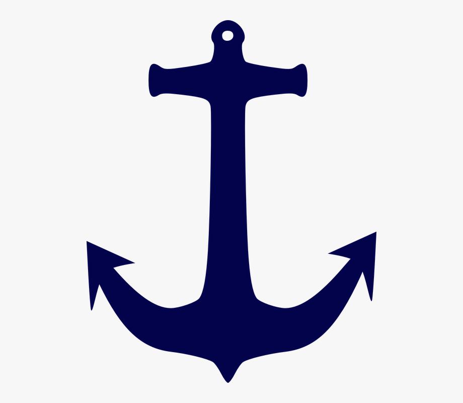 Us marine navy blue. Clipart anchor easy