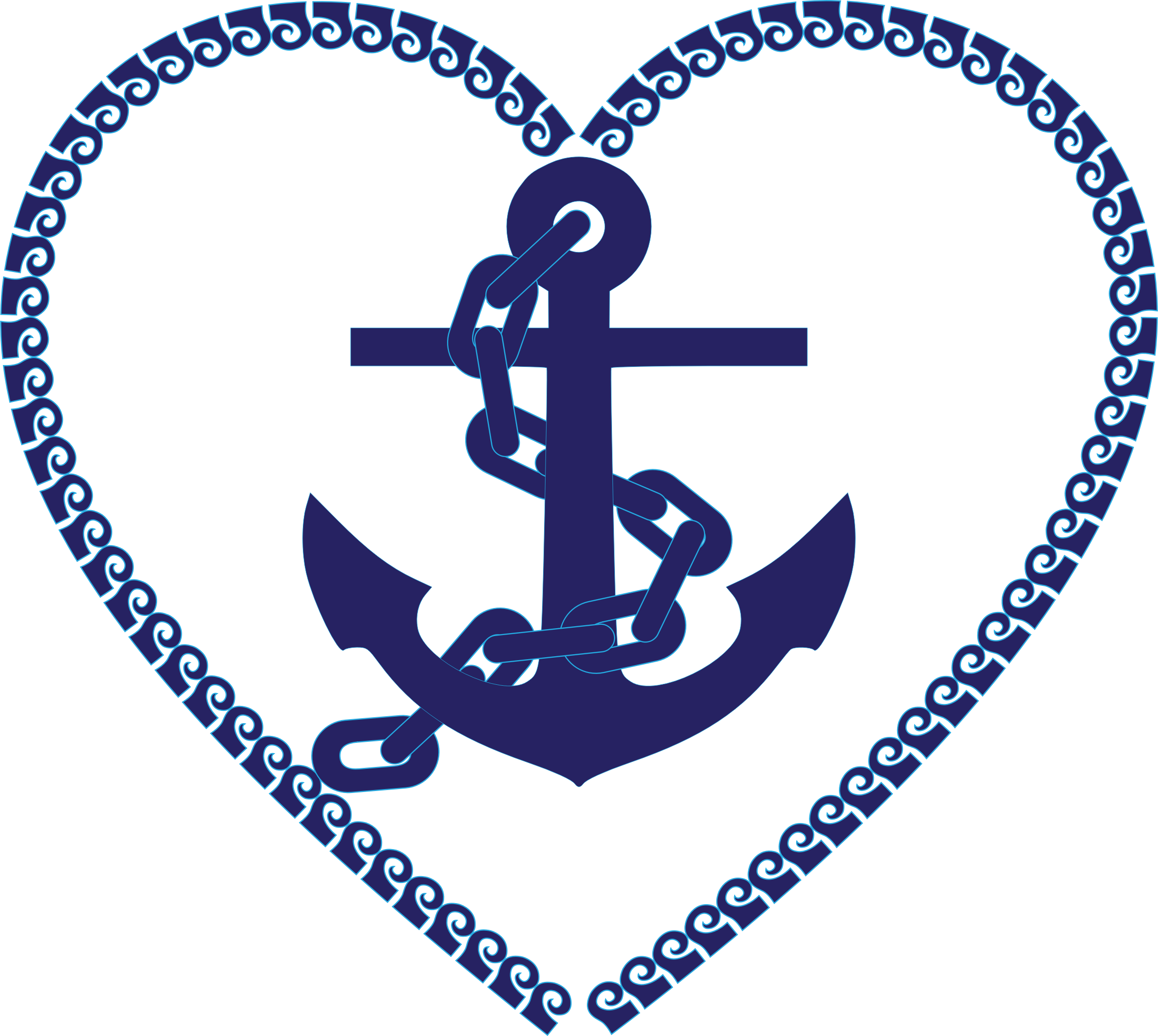 Nautical heart love danielbentley. Clipart anchor tilted
