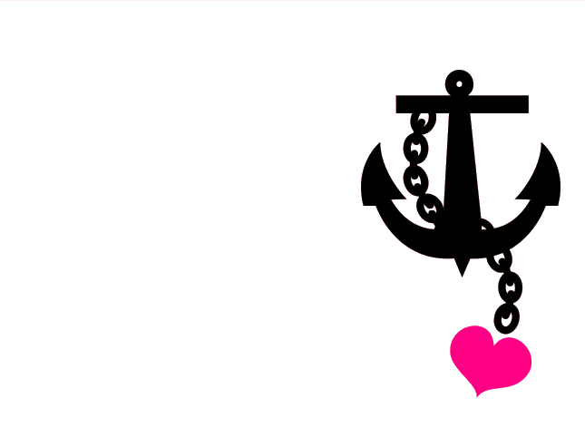 Anchor clipart love. Pink white with heart