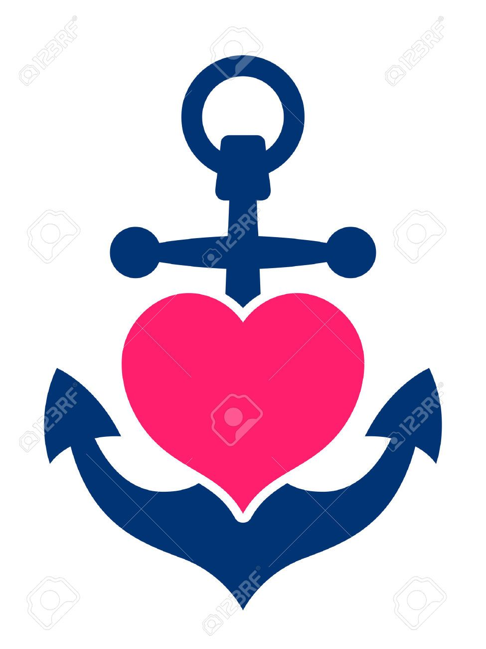 Anchor clipart love. Blue marine or ships