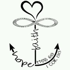 Faith hope . Anchor clipart love