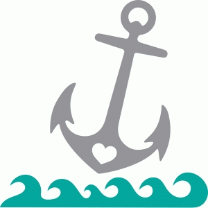 Anchor clipart love. Silhouette design store view