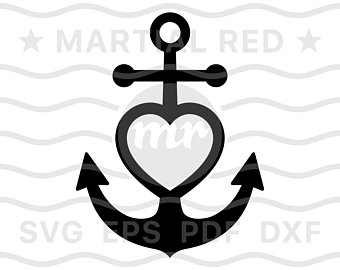Anchor clipart love. Etsy