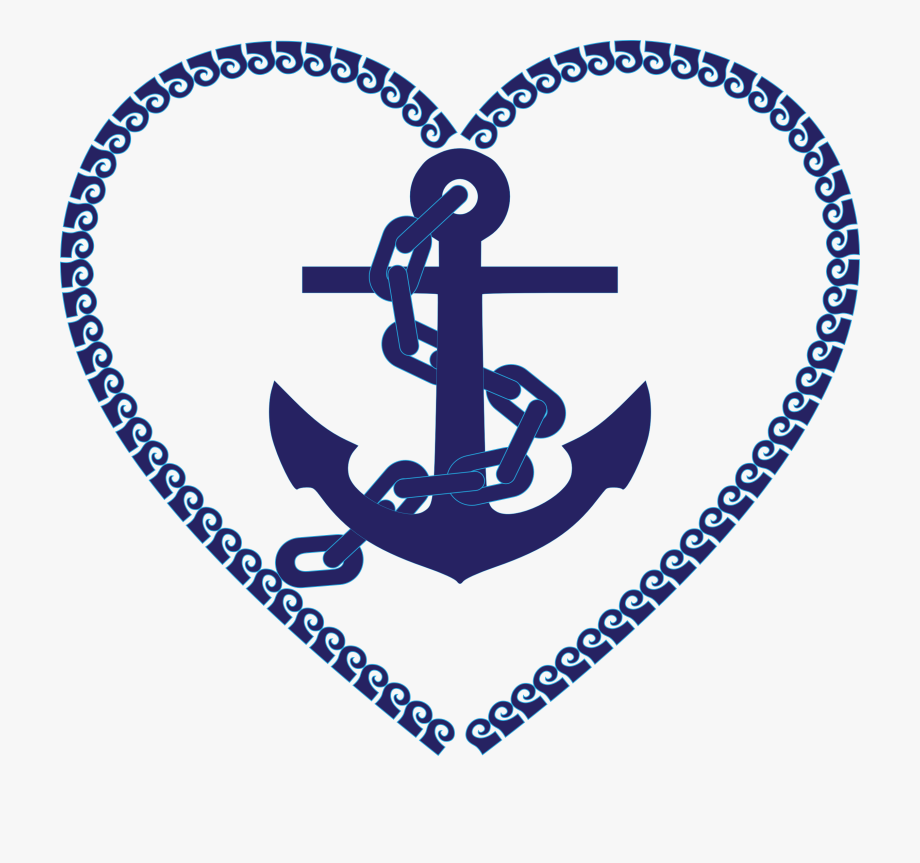 Heart nautical clip art. Anchor clipart love