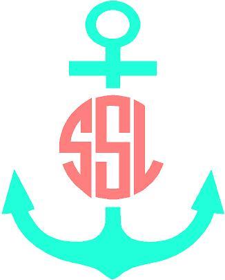 . Anchor clipart monogram