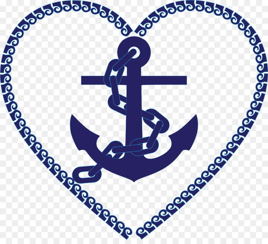 Anchor clipart nautical. Heart maritime transport sea
