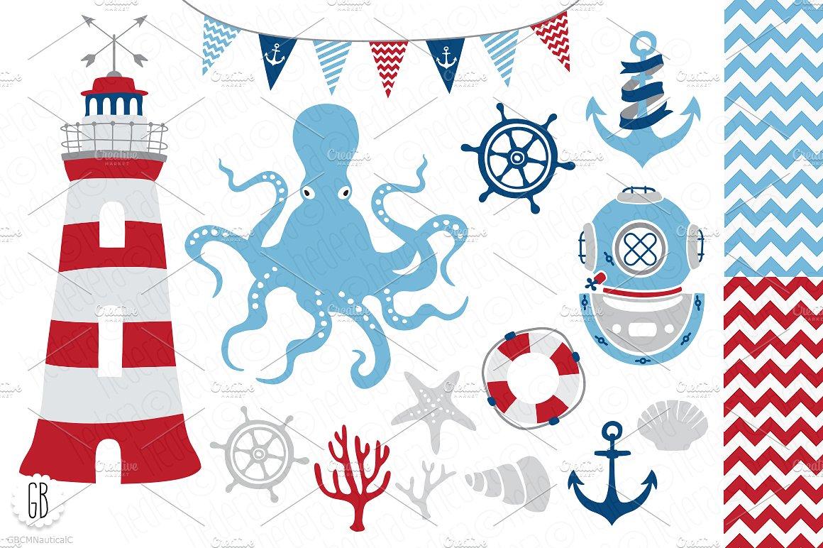 Anchor clipart nautical. Vector clip art illustrations