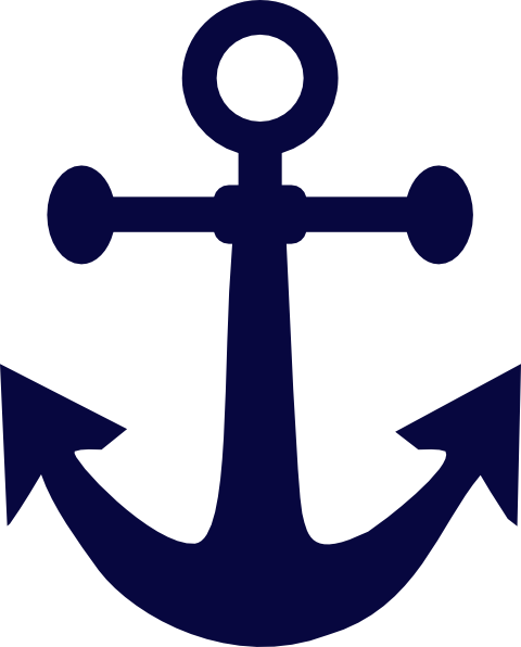 Clipart anchor tilted. Navy blue clip art