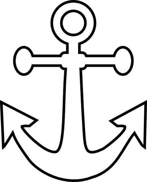 Anchor clipart outline. Pinterest