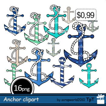 Anchor clipart outline. Nautical clip art black