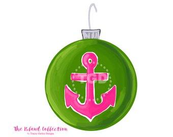 Christmas ornament clip art. Anchor clipart preppy