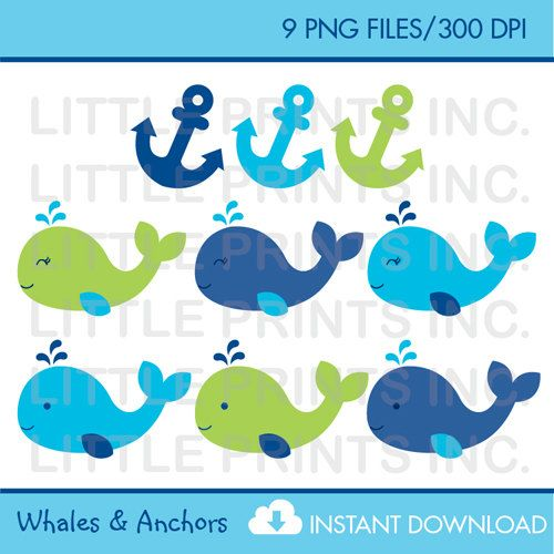 Anchor clipart preppy. Whale baby