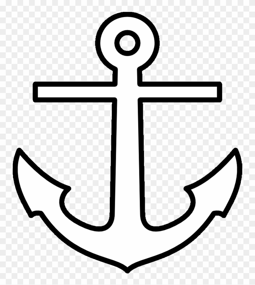 Anchor clipart printable. Pattern template