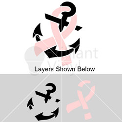And svg file troy. Anchor clipart ribbon