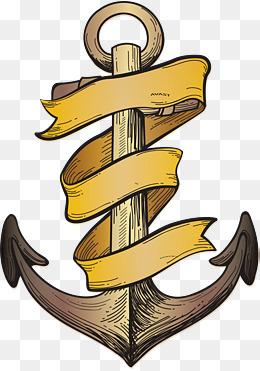 Anchor clipart ribbon. Winding png images vectors