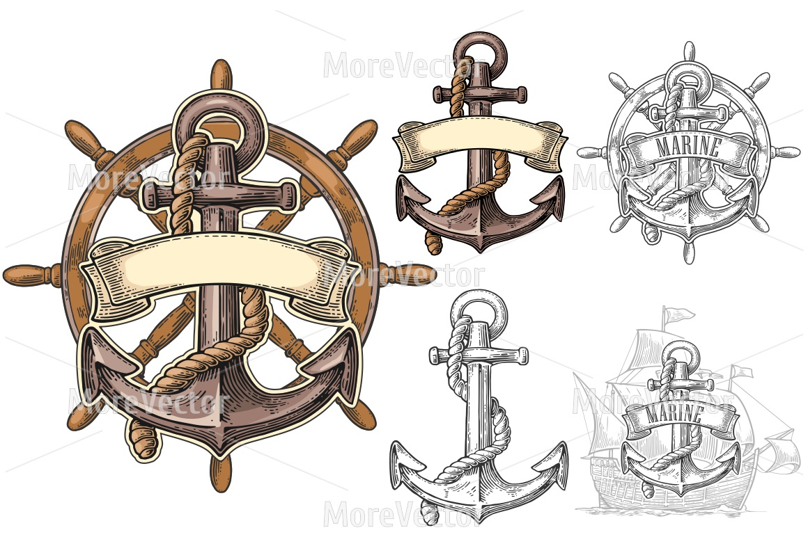 And sheep wheel with. Anchor clipart ribbon