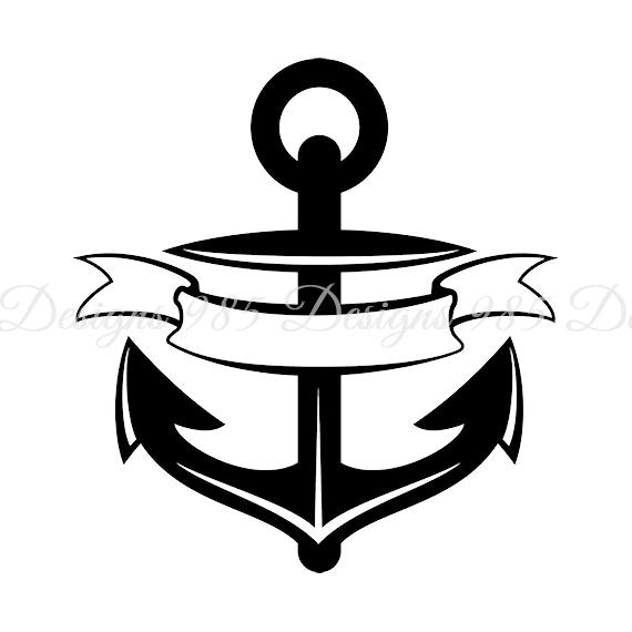 Banner svg for cricut. Anchor clipart ribbon