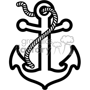 Anchor clipart rope. With svg cut file