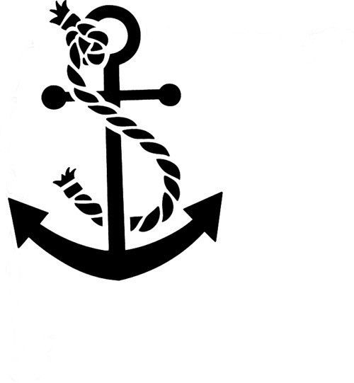 And reusable stencil stenciling. Anchor clipart rope