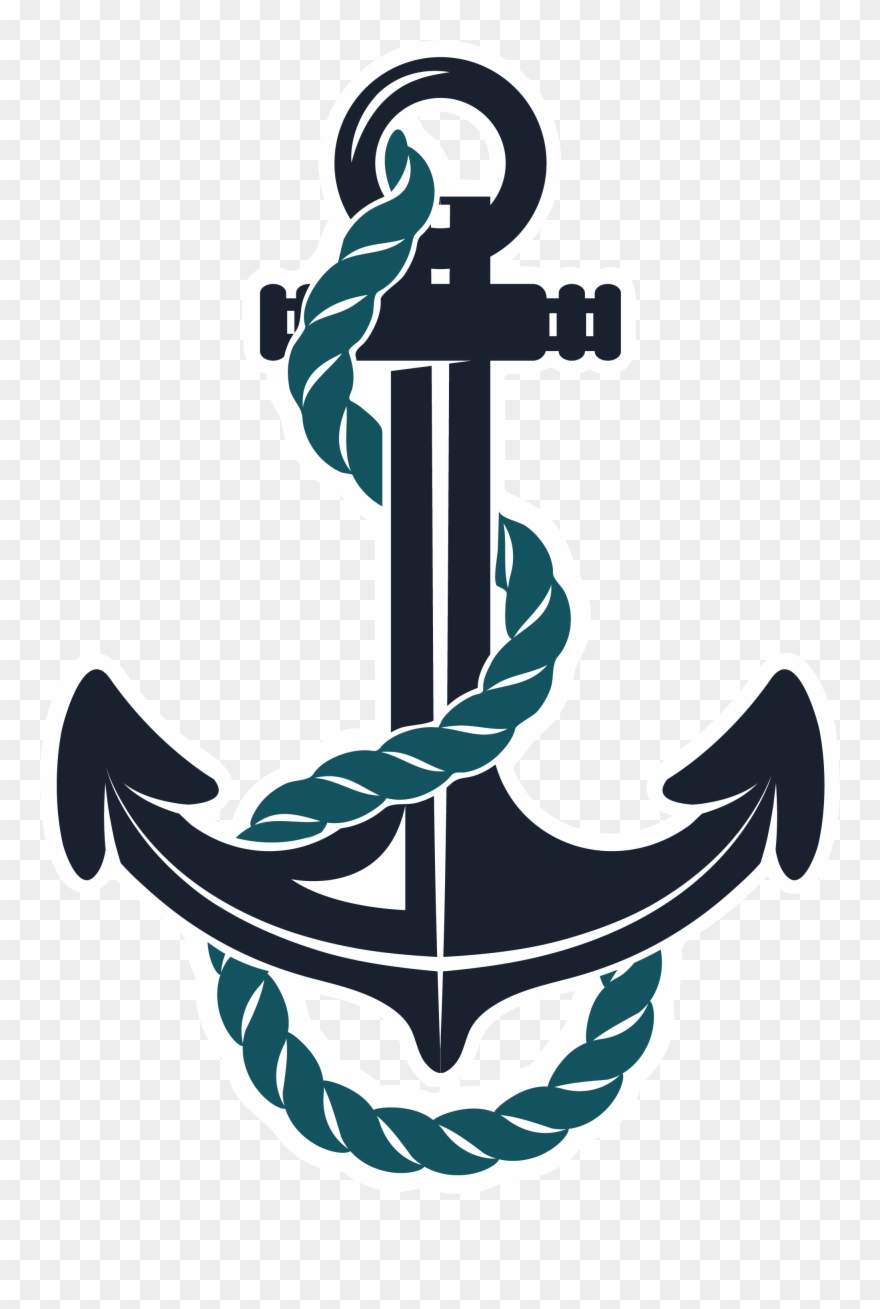Teal with png transparent. Anchor clipart rope