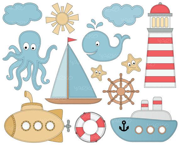 Anchor clipart sea anchor. Nautical clip art sailboat