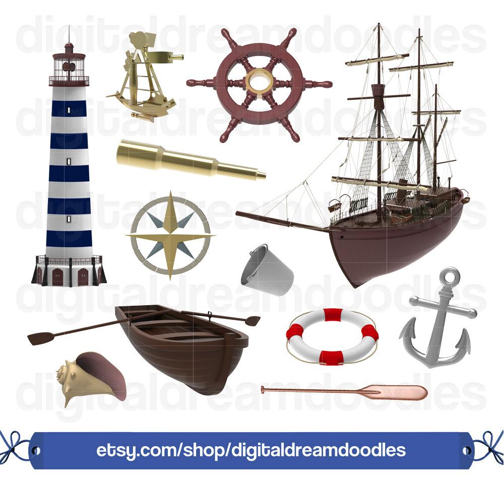 Anchor clipart sea anchor. Nautical ocean clip art