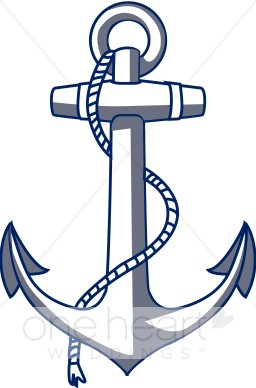 Nautical wedding. Clipart anchor
