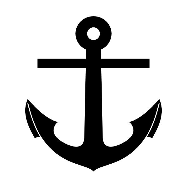 Anchor clipart silhouette. Pirate ship clip art