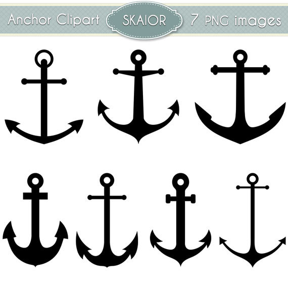 Vector clip art nautical. Anchor clipart silhouette