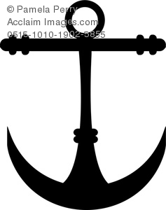 Clip art image of. Anchor clipart silhouette