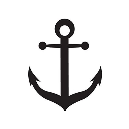 By studior nautical boat. Anchor clipart stencil