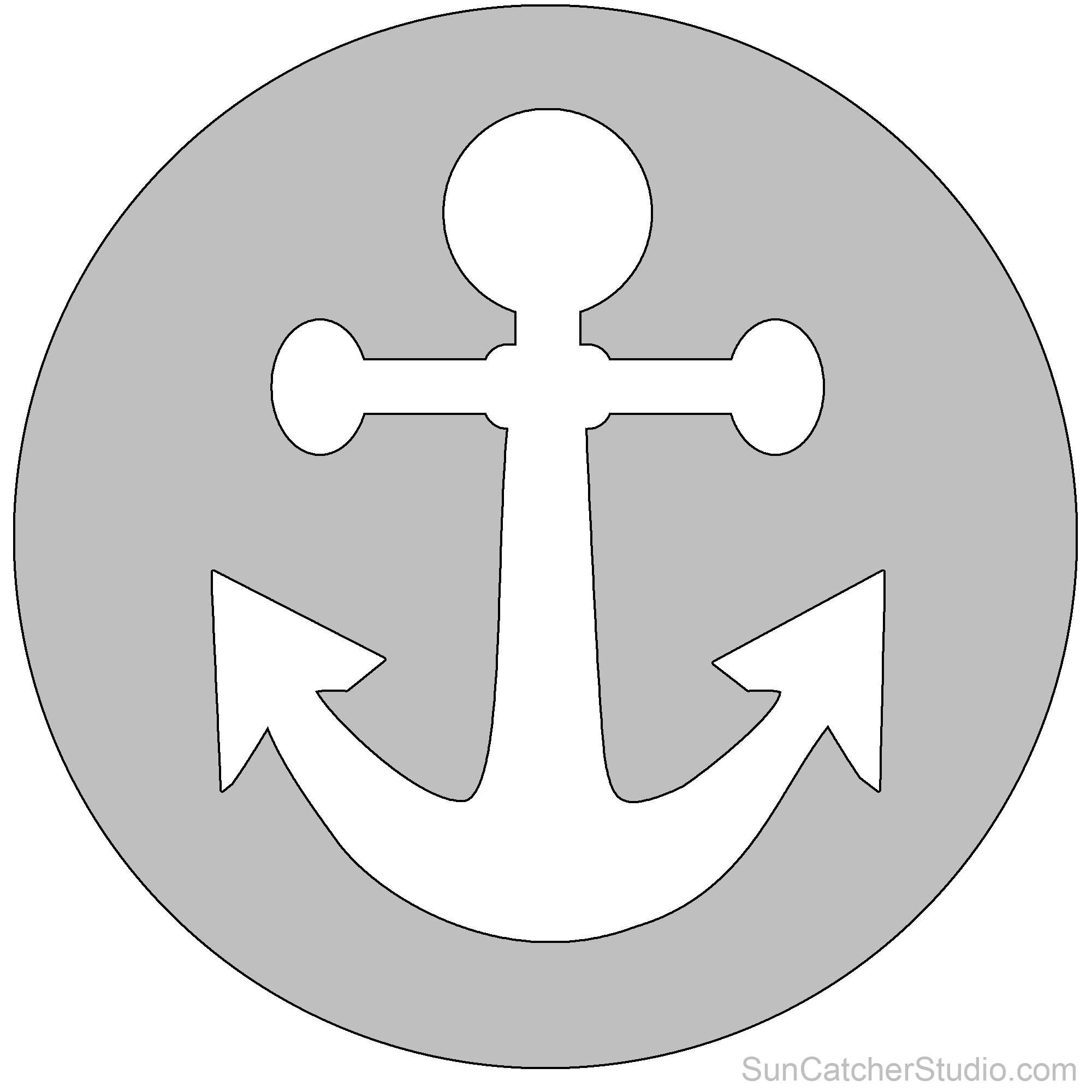 Religious and christian clip. Anchor clipart stencil