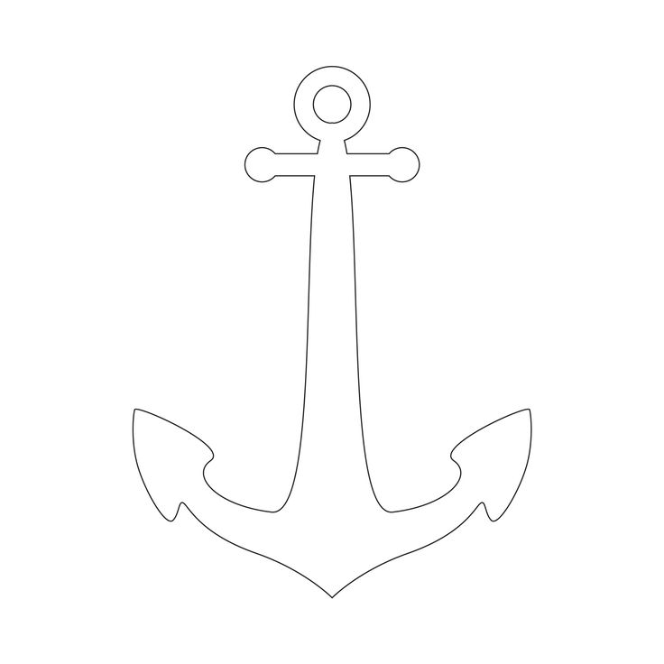 Anchor clipart stencil.  best y blank